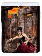 queen of Swords Duvet Cover by Tammy Wetzel