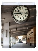 Railway Station Clock Duvet Cover by Deyan Georgiev