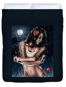 Rain When I Die Duvet Cover by Pete Tapang