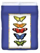 Rainbow Butterflies Duvet Cover by Lucy Arnold