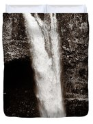 Rainbow Falls 2 - Sepia Duvet Cover by Christopher Holmes