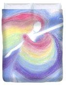 Rainbow Goddess Duvet Cover by Cassandra Geernaert