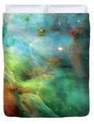Rainbow Orion Nebula Duvet Cover by The  Vault - Jennifer Rondinelli Reilly