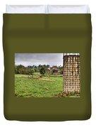 Rainy Day On The Farm Duvet Cover by Douglas Barnett