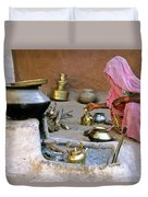 Rajasthani Woman Duvet Cover by Michele Burgess