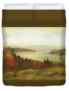 Raquette Lake Duvet Cover by Homer Dodge Martin