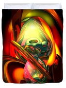 Raw Fury Abstract Duvet Cover by Alexander Butler