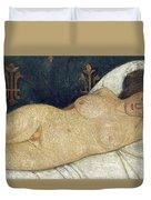 Reclining Female Nude Duvet Cover by Paula Modersohn-Becker