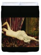 Reclining Nude Duvet Cover by Henri Fantin Latour