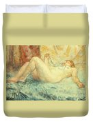 Reclining Nude Duvet Cover by Henri Lebasque