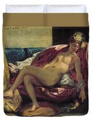 Reclining Odalisque Duvet Cover by Ferdinand Victor Eugene Delacroix