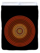 Red Abstract Circle Duvet Cover by Frank Tschakert
