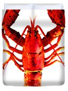 Red Lobster - Full Body Seafood Art Duvet Cover by Sharon Cummings
