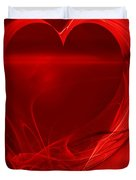 Red Love . A120423.279 Duvet Cover by Wingsdomain Art and Photography