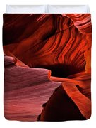 Red Rock Inferno Duvet Cover by Mike  Dawson
