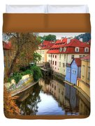 Red Roofs Of Prague Duvet Cover by Jay Lee