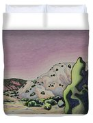 Red Sky Duvet Cover by Dale Beckman