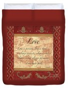 Red Traditional Love Duvet Cover by Debbie DeWitt