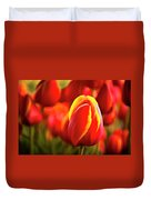 Red Tulip Duvet Cover by Tamyra Ayles