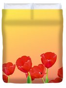 Red Tulips Duvet Cover by Kristin Elmquist