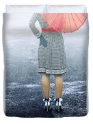 Red Umbrella Duvet Cover by Joana Kruse