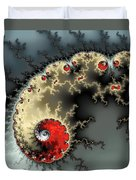 Red Yellow Grey And Black - Amazing Mandelbrot Fractal Duvet Cover by Matthias Hauser