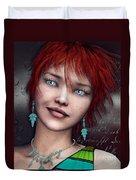 Redhead Duvet Cover by Jutta Maria Pusl
