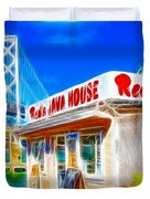 Red's Java House Electrified Duvet Cover by Wingsdomain Art and Photography