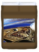 Reflection On A Parked Car 11 Duvet Cover by Sarah Loft