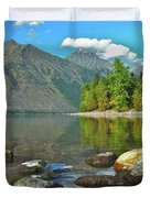 Reflections Glacier National Park  Duvet Cover by Michael Peychich