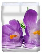 Reflections of Beauty Duvet Cover by Cheryl Young