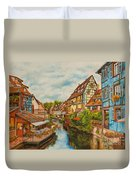 Reflections Of Colmar Duvet Cover by Charlotte Blanchard