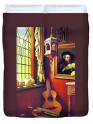 Rembrandt's Hurdy-gurdy Duvet Cover by Patrick Anthony Pierson