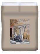 Reposo En El Vaticano Duvet Cover by Tomas Castano