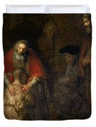 Return Of The Prodigal Son Duvet Cover by Rembrandt Harmenszoon van Rijn