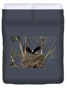 Returning Home To The Nest Duvet Cover by Mike  Dawson