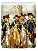 Revolutionary War Infantry Duvet Cover by War Is Hell Store
