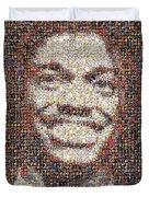 Rg3 Redskins History Mosaic Duvet Cover by Paul Van Scott