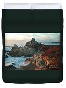 Ribera Beach Sunset Carmel California Duvet Cover by Charlene Mitchell