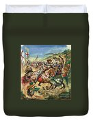 Richard The Lionheart During The Crusades Duvet Cover by Peter Jackson