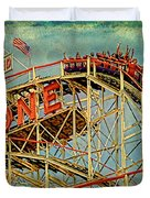 Riding The Cyclone Duvet Cover by Chris Lord