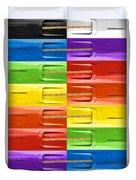 Road Runner Rainbow Duvet Cover by Gordon Dean II