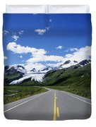 Road to Worthington Glacier Duvet Cover by Bill Bachmann - Printscapes