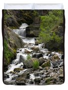 Roadside Mountain Stream Duvet Cover by Mike McGlothlen