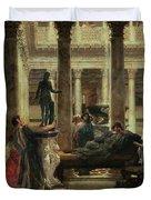 Roman Art Lover Duvet Cover by Sir Lawrence Alma-Tadema