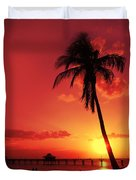 Romantic Sunset Duvet Cover by Melanie Viola