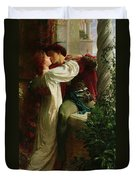 Romeo And Juliet Duvet Cover by Sir Frank Dicksee
