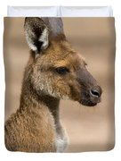 Roo Portrait Duvet Cover by Mike  Dawson