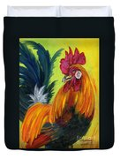 Rooster Kary Duvet Cover by Summer Celeste