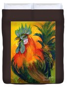 Rooster of Another Color Duvet Cover by Summer Celeste